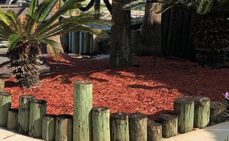 landscape mulch delivery and installation service