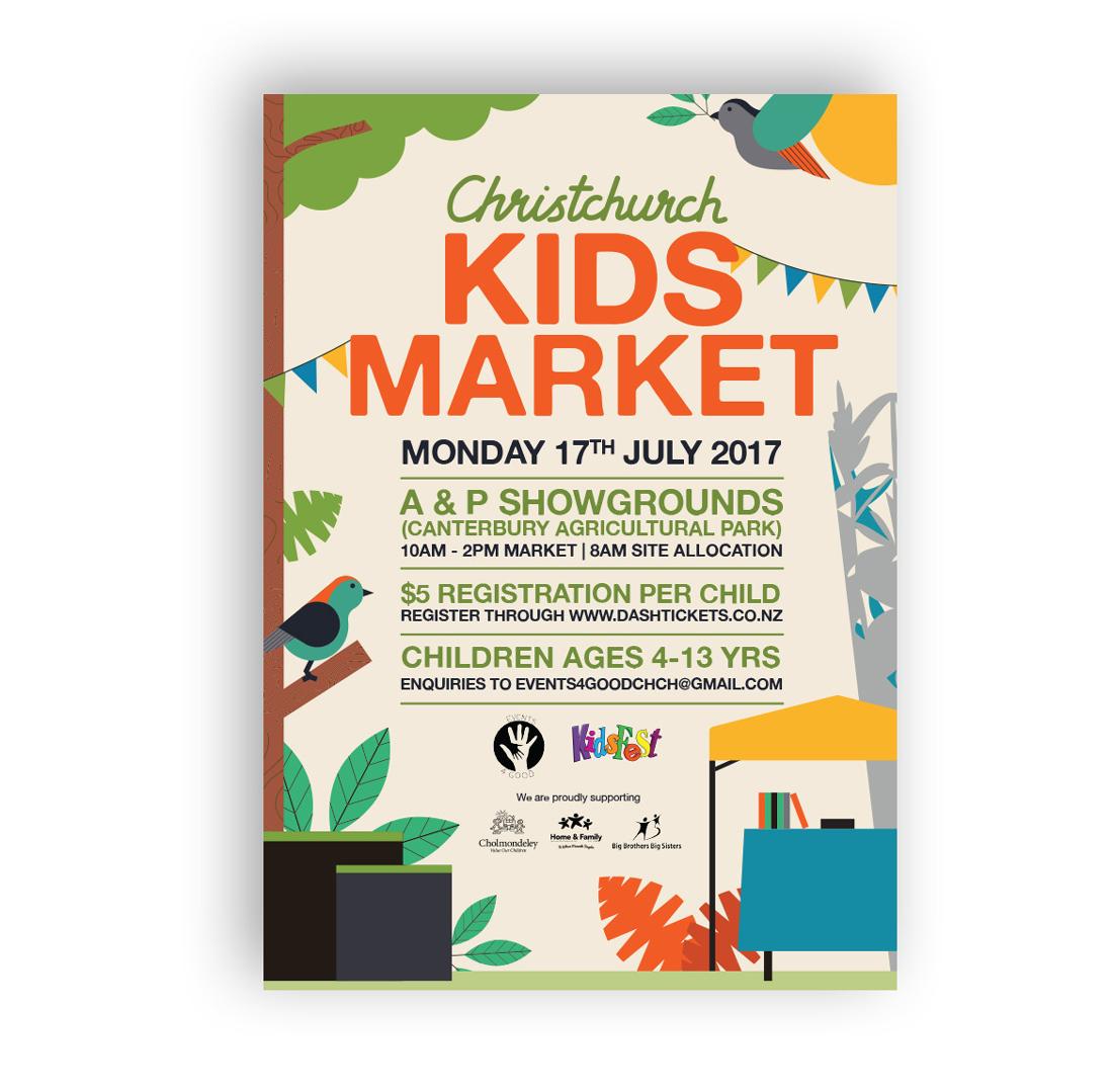 Kids market poster
