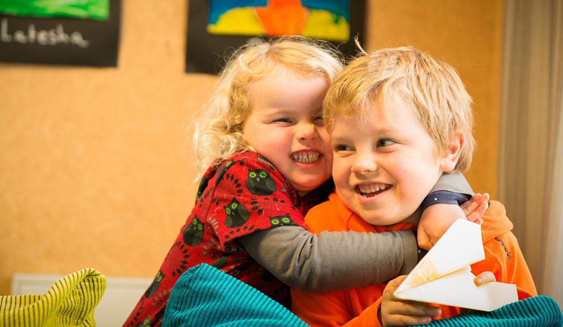Two happy children at Chomondeley