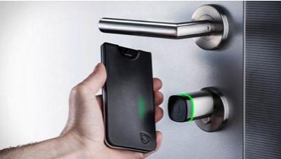 NFC application unlock door