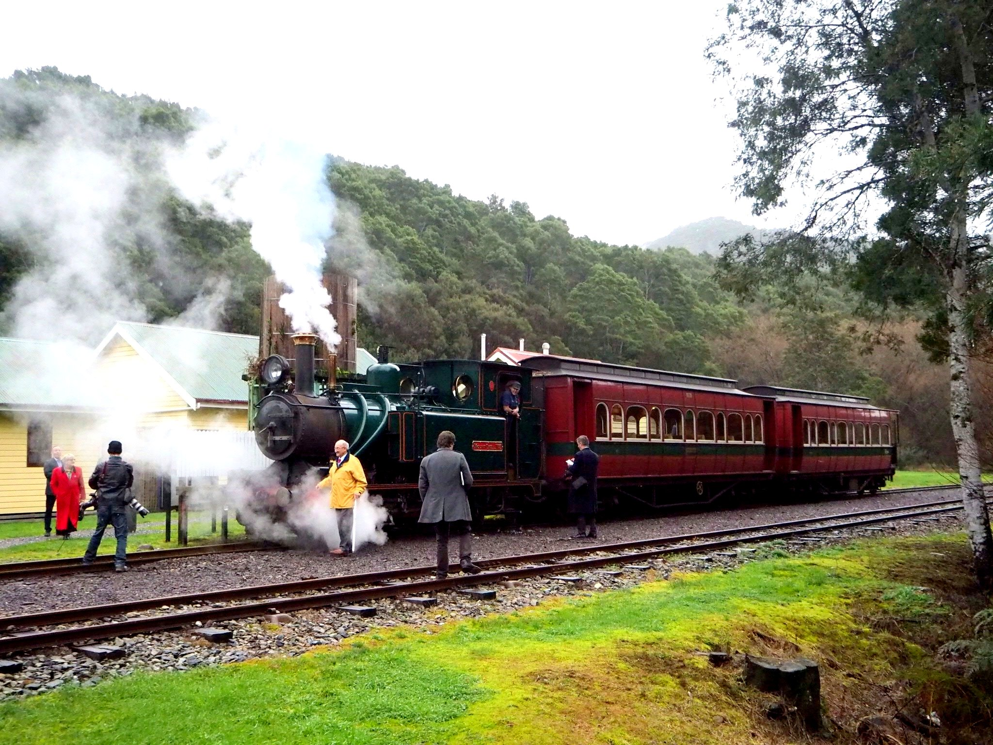 The West Coast Wilderness Railway hosted the presentation at Lynchford Station, near Queenstown