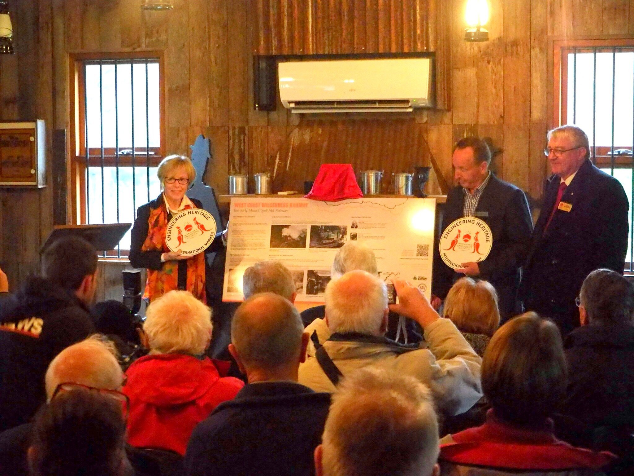 ‍The Presentation of the Heritage Markers at Lynchford Station