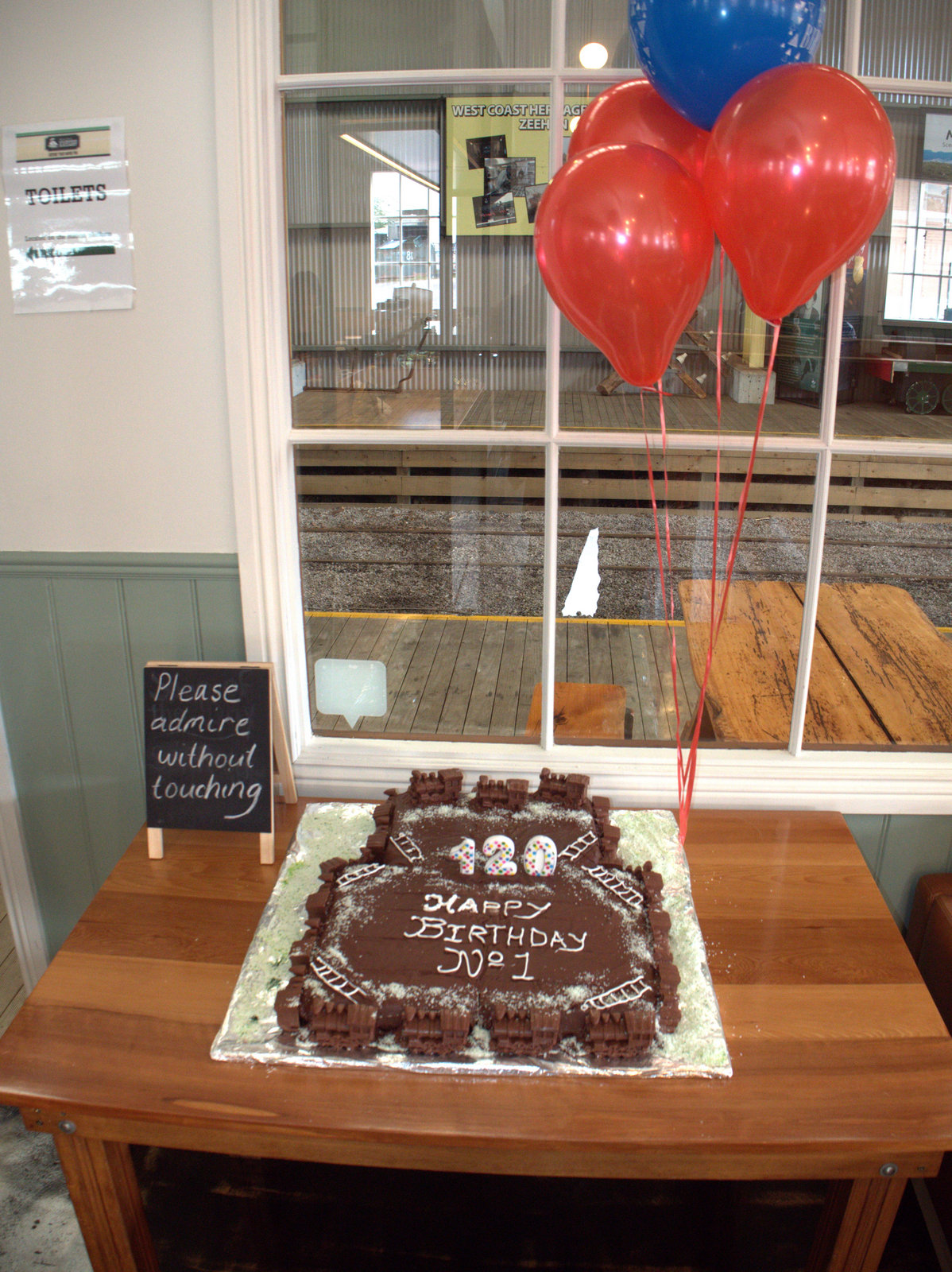 Loco No.1's birthday cake was made by the team at Tracks Cafe in Queenstown