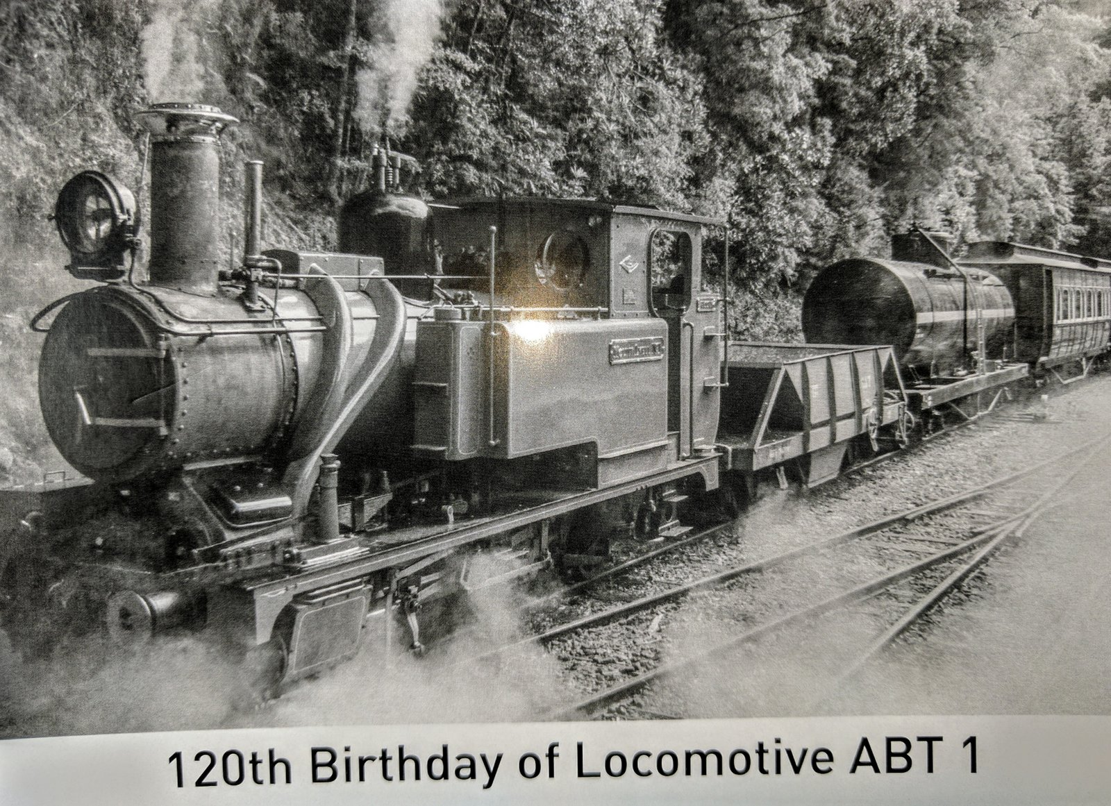 Each passenger travelling on locomotive No.1 that day was presented with a commemorative postcard