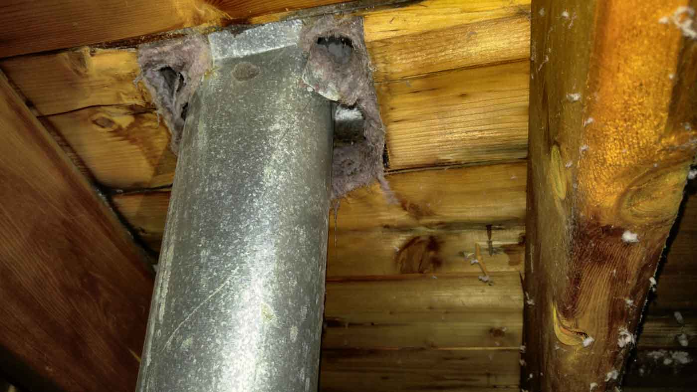 improperly connected dryer vent