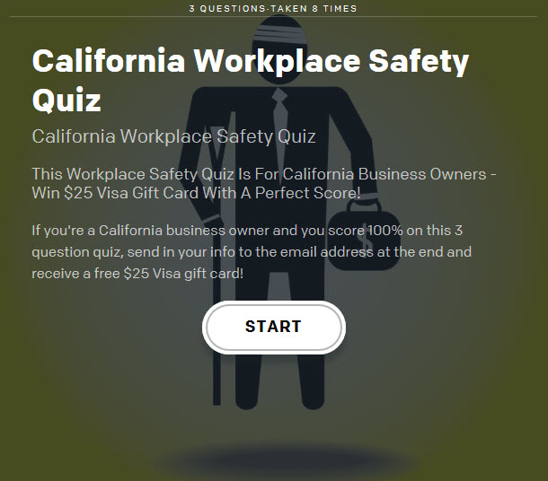 California Workplace Safety Quiz