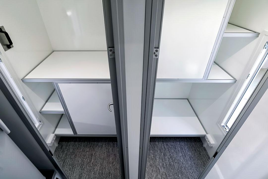 Scanvogn beboelsesvogn 4 enkelt værelser