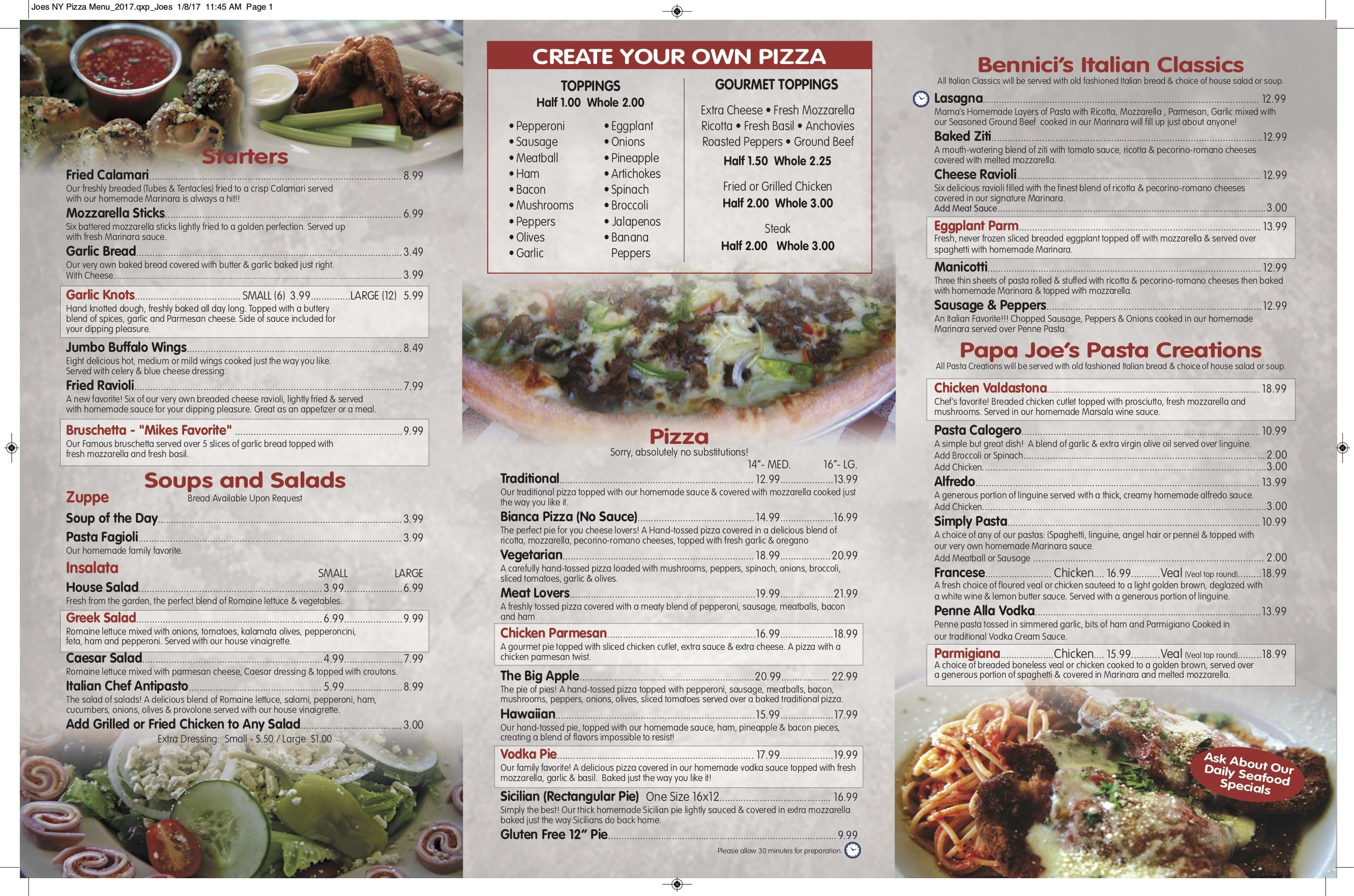 Z Pizza Mammoth Menu Joe's New York Pizza &...
