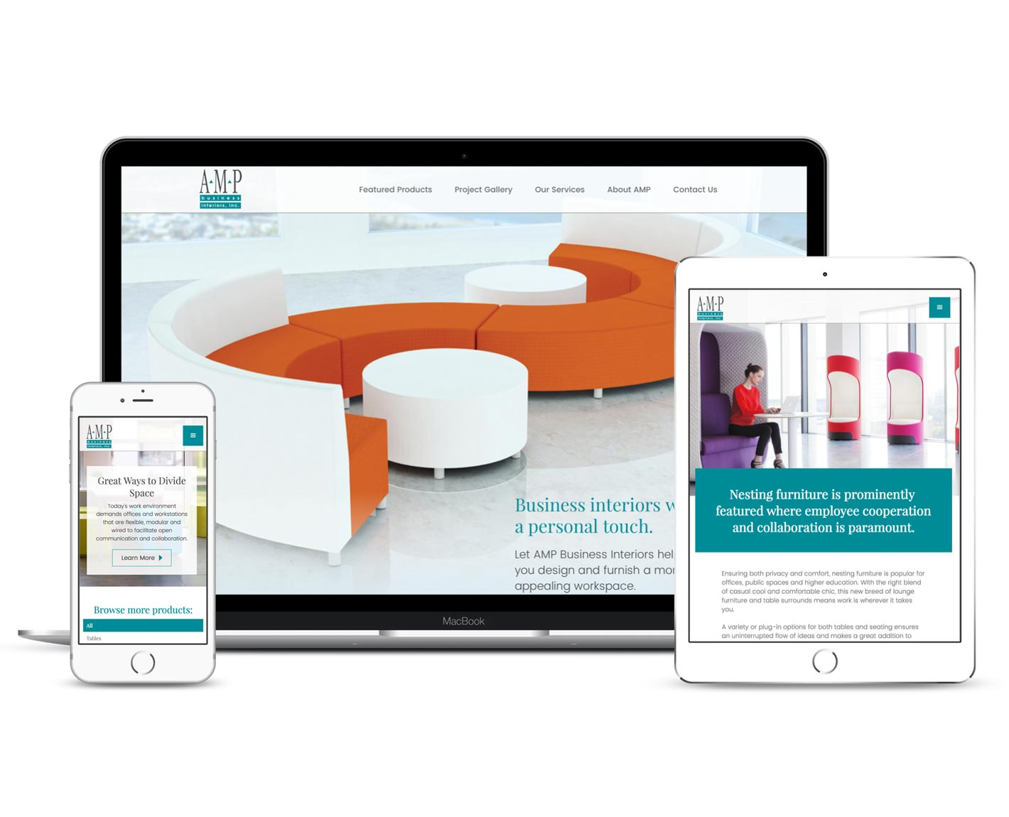 AMP Business Interiors Website Redesign by Tara Hoover