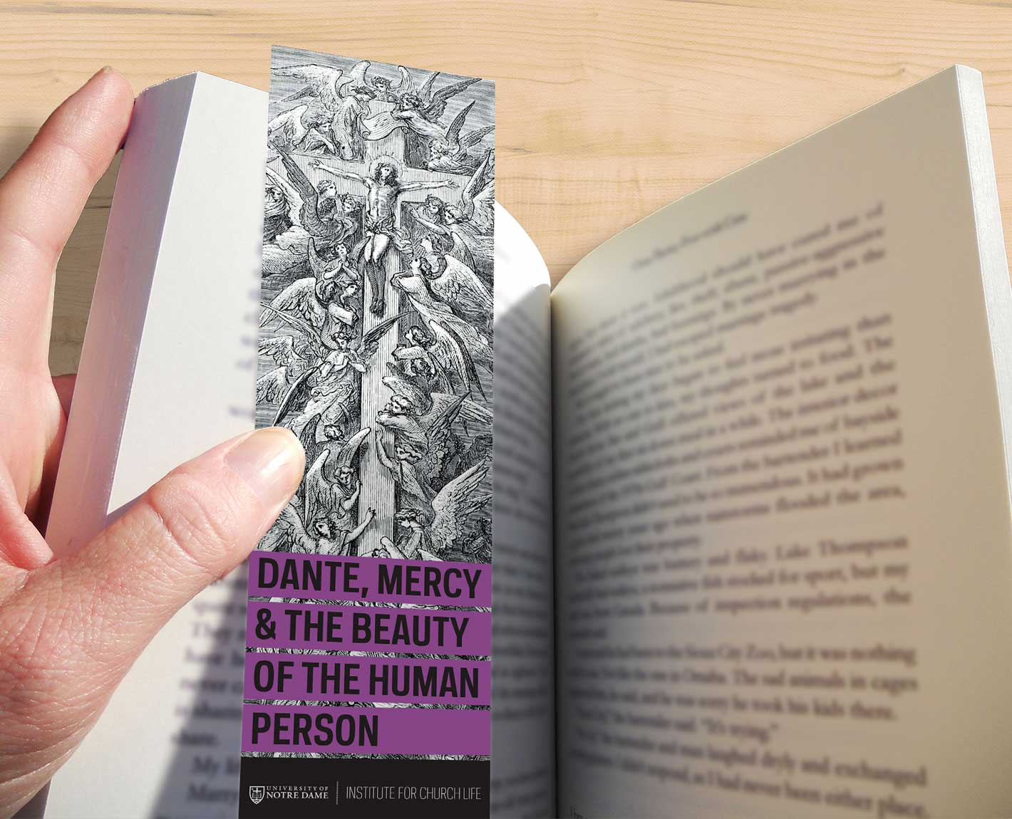 Notre Dame Institute for Church Life bookmark designed by Tara Hoover