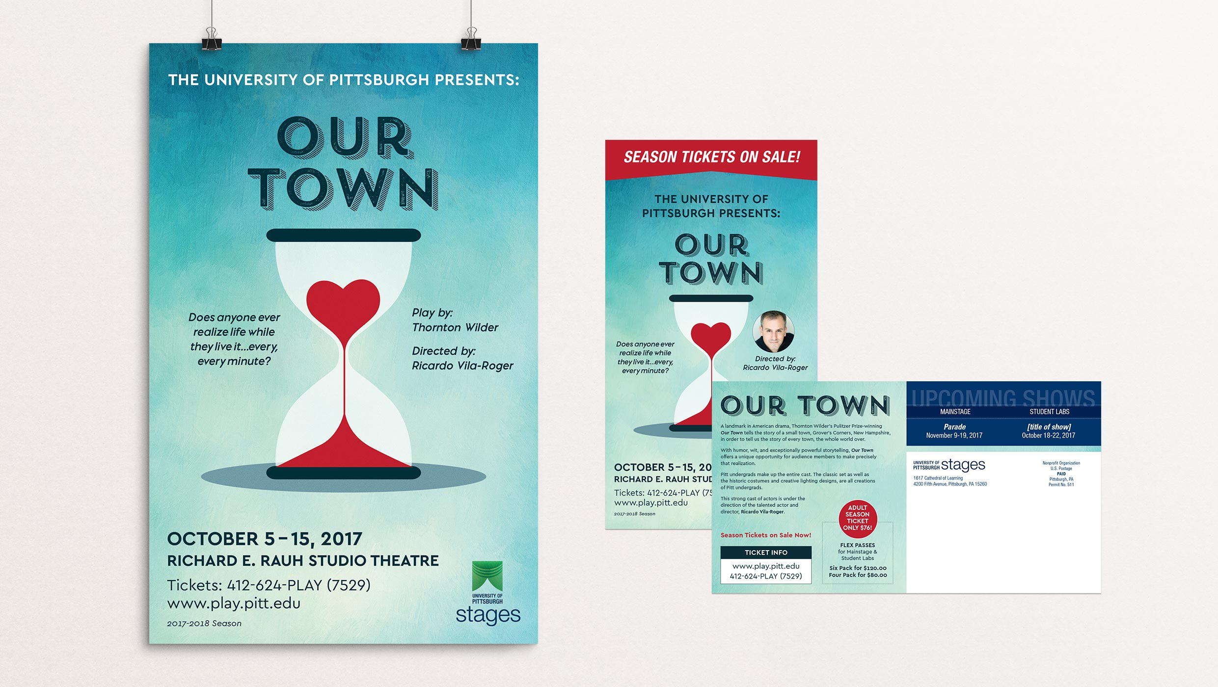 Our Town poster designed by Tara Hoover