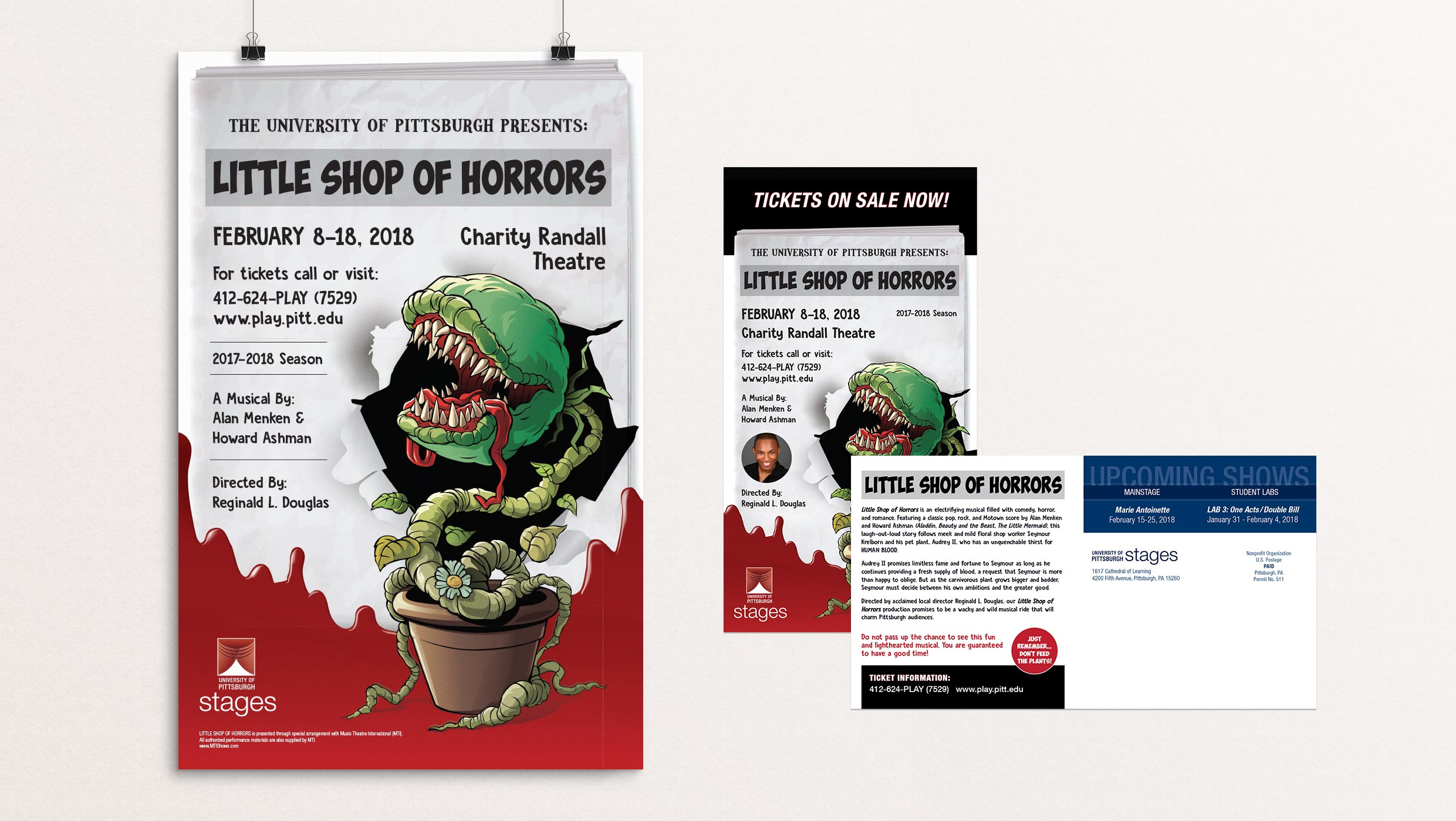 Little Shop of Horrors poster designed by Tara Hoover