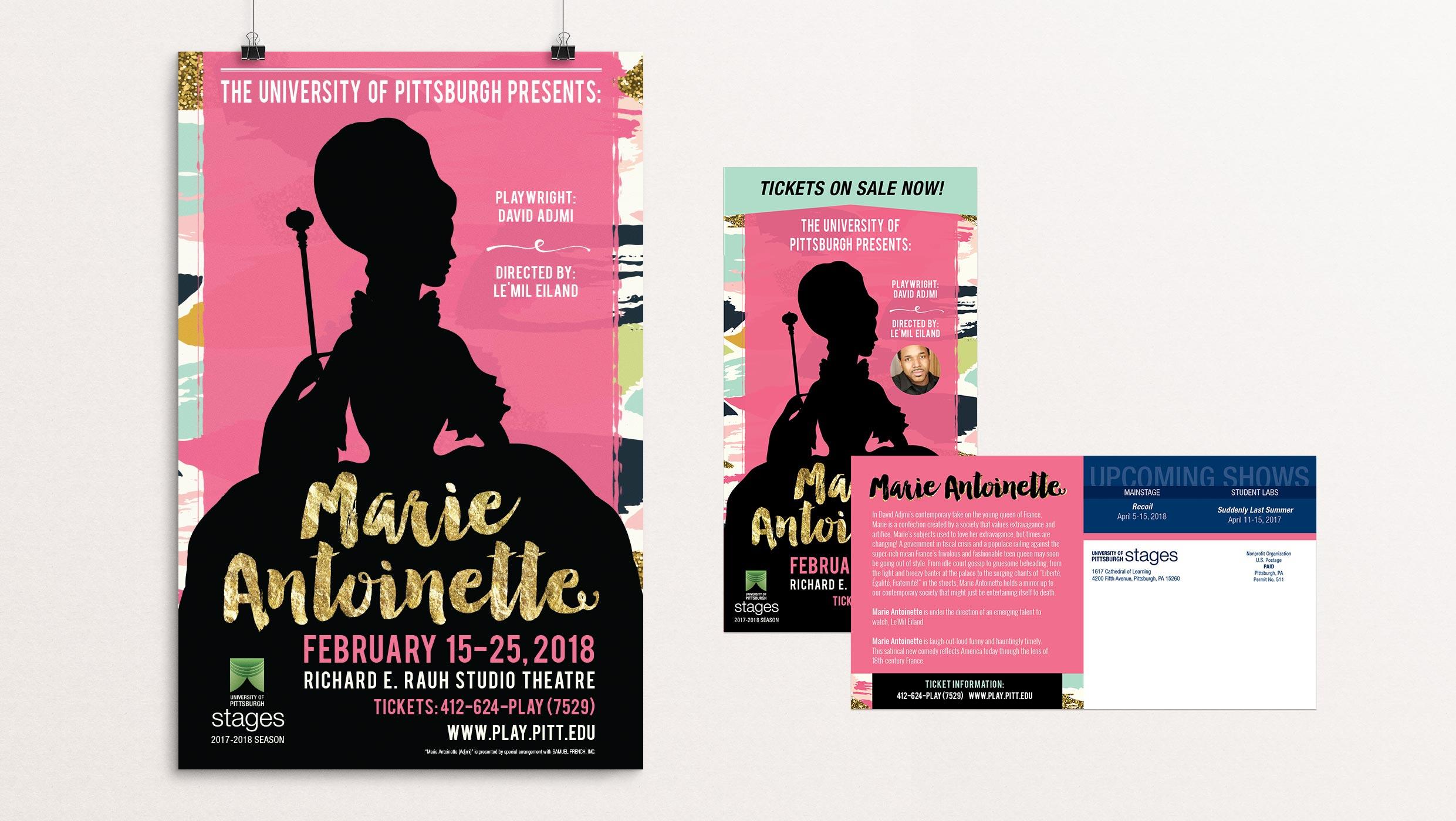 Marie Antoinette poster designed by Tara Hoover