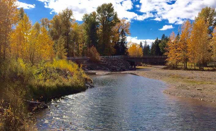 The proposed Lincoln Community RIver Park will sit just below Stemple Pass Bridge, less than a mile from the town of Lincoln