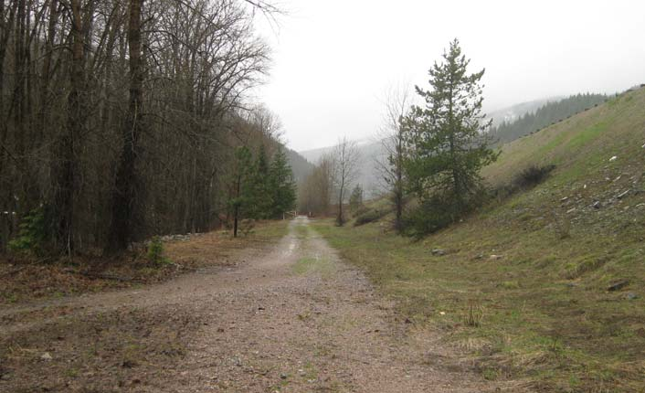 The Route of the Olympian Trail, near Saltese.