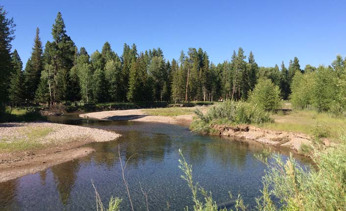 The park is located along the iconic Blackfoot RIver, just a mile from Lincoln.