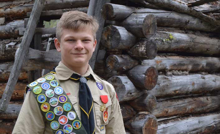 Eagle Scout Rex Koenig. Photo courtesy of Gwen Jones.