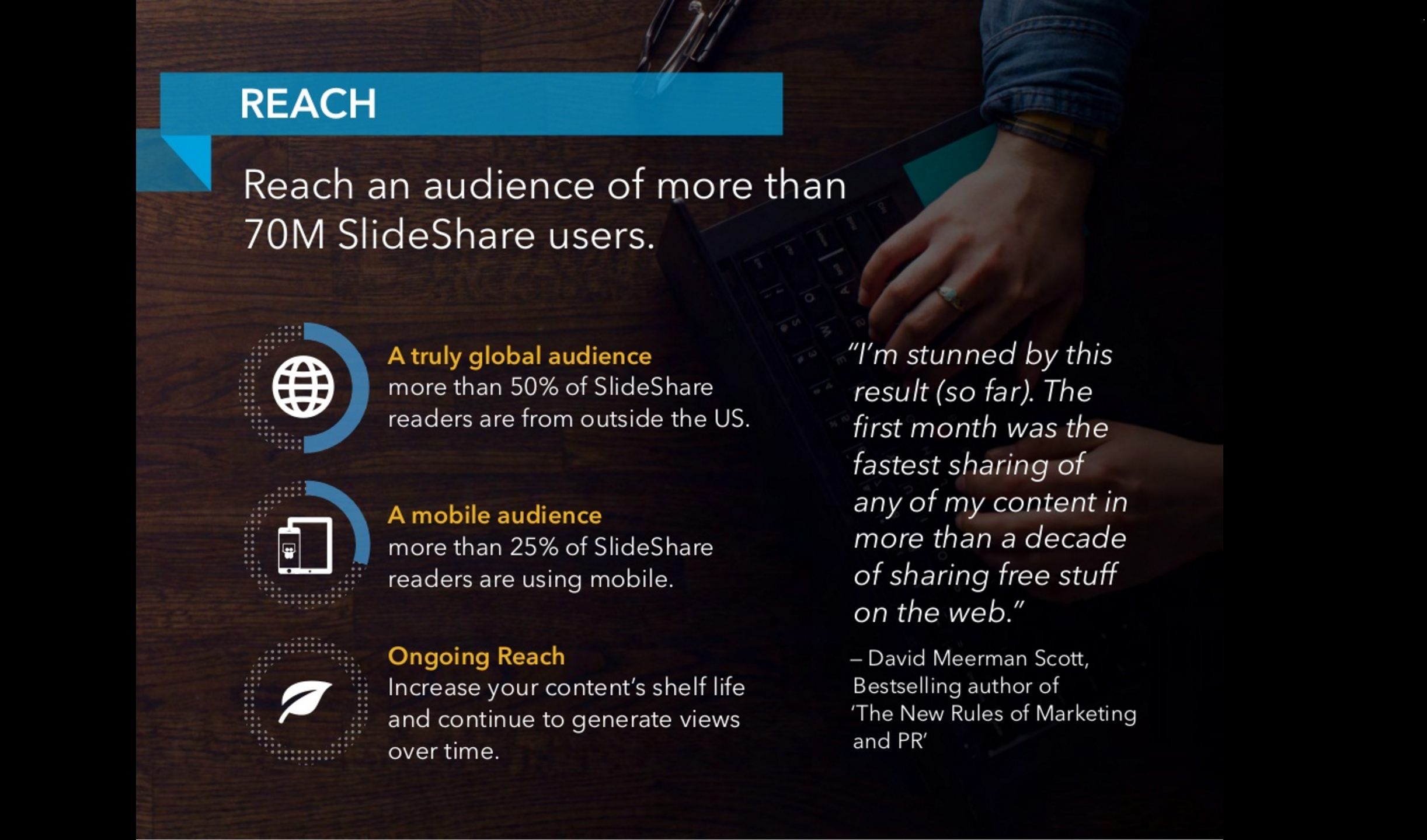 Slideshare's description of their audience