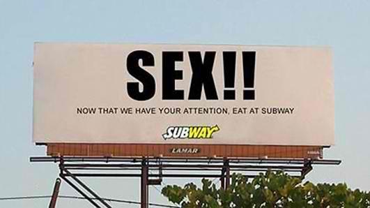 Photoshopped Billboard advertising Subway.