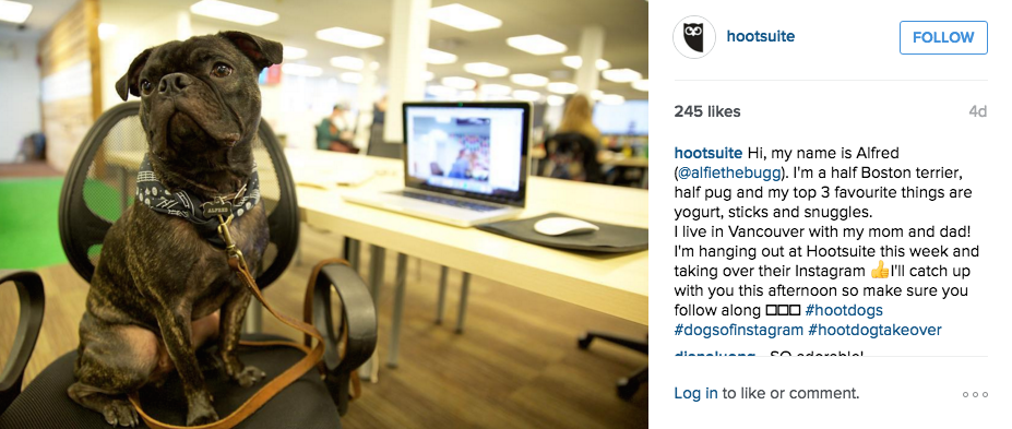 Hootsuite social post