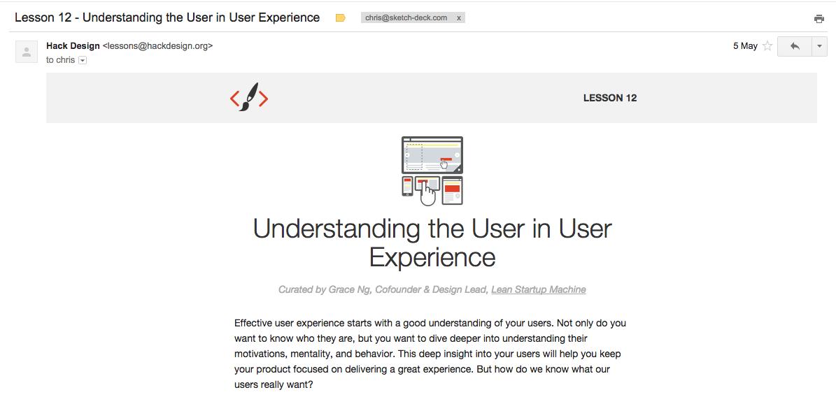 Hack design email
