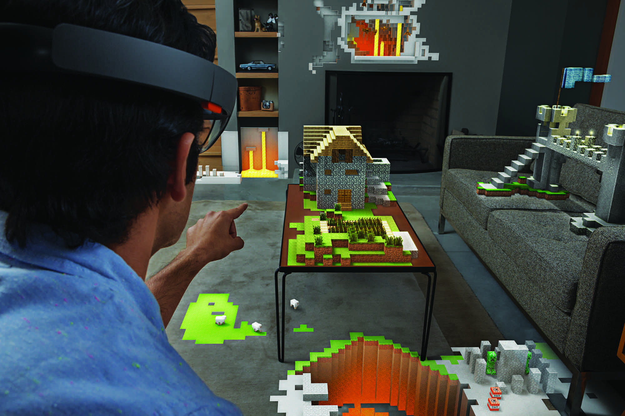 Minecraft in AR