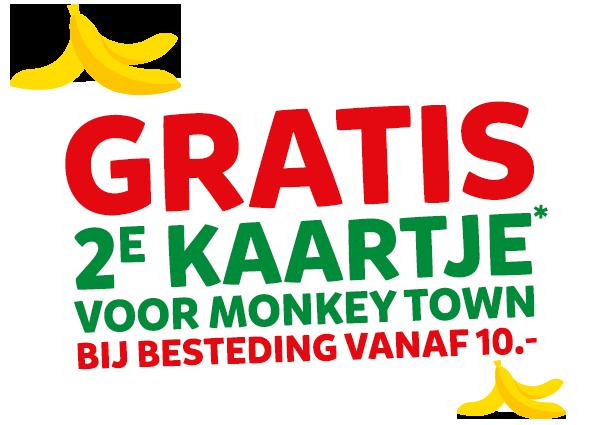 2e kaartje gratis voor Monkey Town bij Intertoys